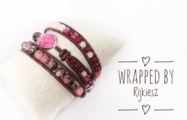 Rhodonite gemstone wrap