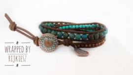 Copper mixed turquoise wrap