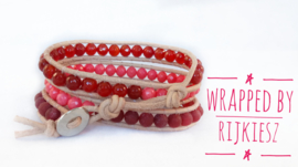 Red coral lovely wrap