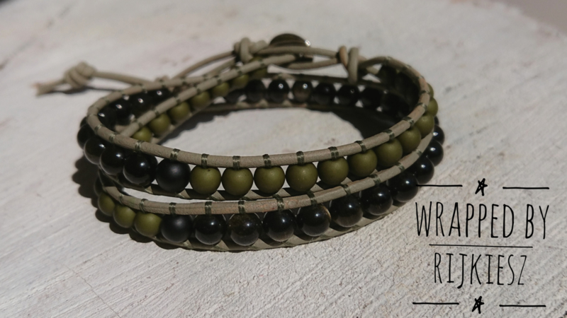 Army green simple wrap