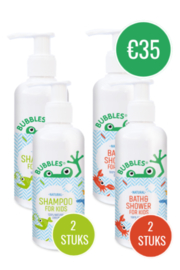 BUNDEL 2x SHAMPOO 200ML + 2x BATH&SHOWER 200ML