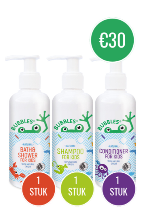BUNDEL 1x BATH&SHOWER 200ML + 1X SHAMPOO 200ML + 1x CONDITIONER 200ML