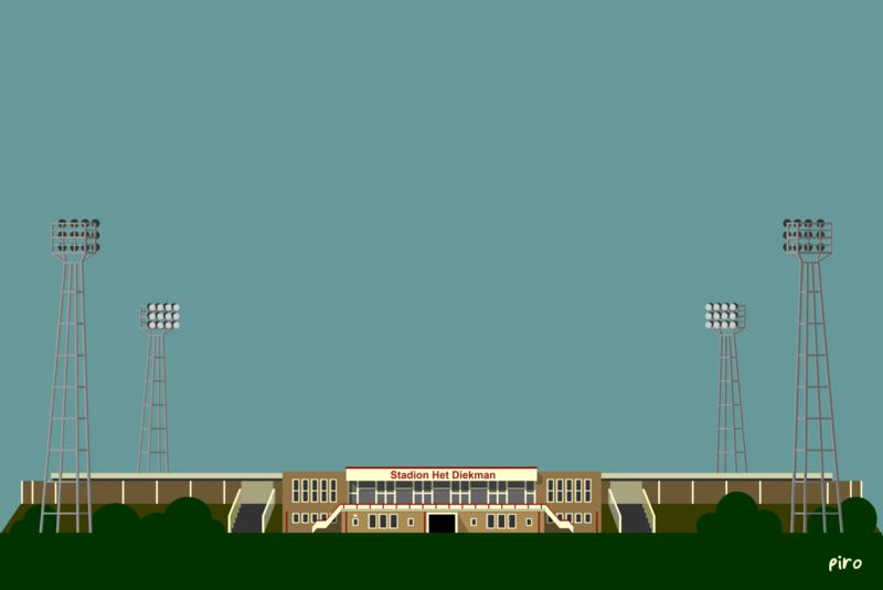 Stadion Het Diekman - 1989