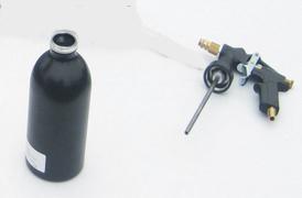 Spuitpistool en drukbeker