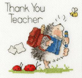 Borduurpakket Kruissteek | Egel - Laatste schooldag (Schools Out Margaret Sherry - Bothy Threads)