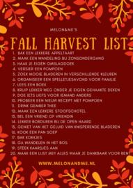 Melon&Me's Fall Harvest List