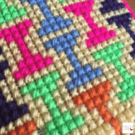 Gratis Borduurpatroon | Tetris