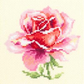 Borduurpakket Kruissteek | Roze Roos (Chudo Igla)