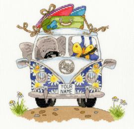 Borduurpakket Kruissteek | Olifant in bus (Pack Your Trunk - Simon Taylor Kielty - Bothy Threads)