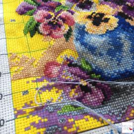 Borduren op voorbedrukt stramien, super handig! (Deel 1)