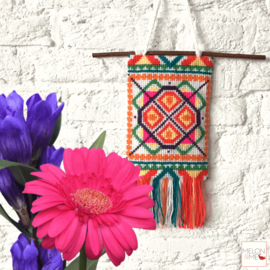 Borduurpakket Wandhanger   Lanterns of Hoi An