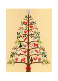 Borduurpakket Kruissteek   Scandinavische kerstboom (Bothy Threads - Scandi Tree)
