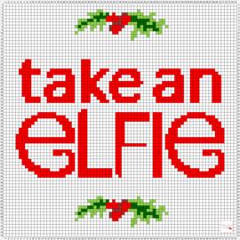 Gratis Borduurpatroon | Kerst - Take an Elfie