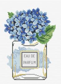 Borduurpakket Kruissteek | Hortensia Eau de Parfum - voorbedrukt stramien
