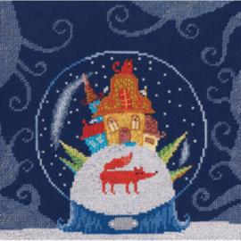 Borduurpakket Kruissteek | Sneeuwbol (RTO)