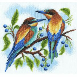 Borduurpakket Kruissteek   Vogels (Birds - PANNA PAN-0429-PS)