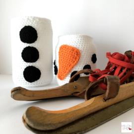 Gratis Haakpatroon Waxinelichthouder | Build a Snowman