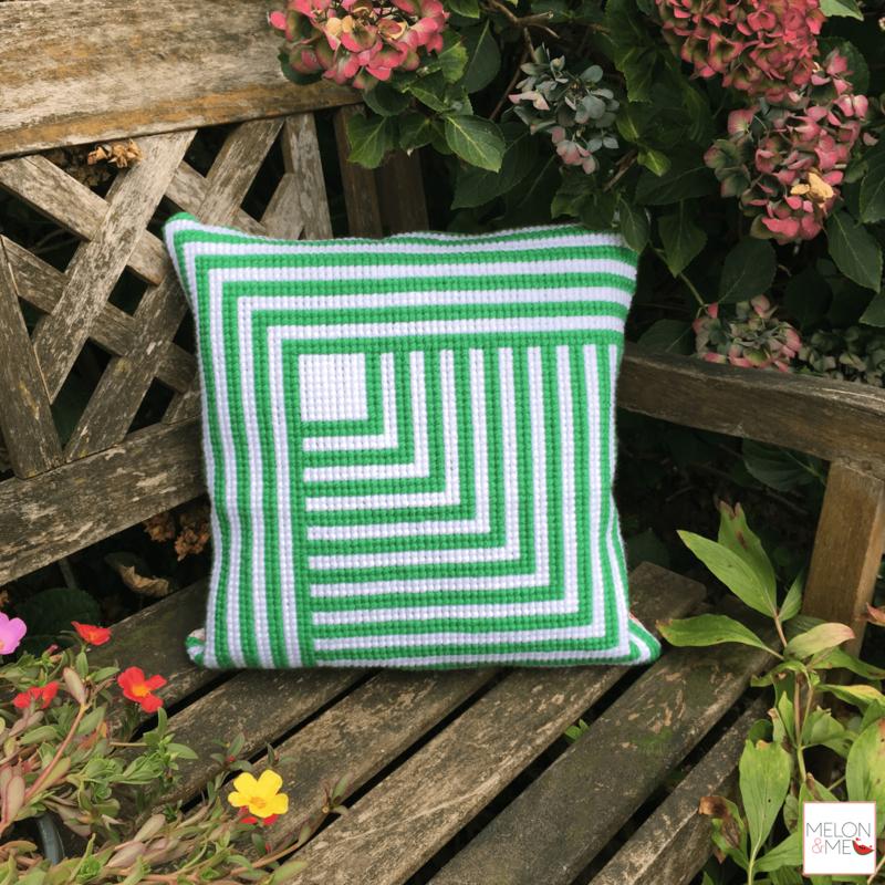 Borduurpakket Kussen | Leaves