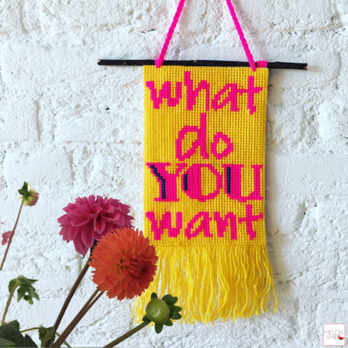 Borduurpakket Wandhanger | What Do You Want