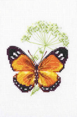 Borduurpakket Kruissteek | Vlinder en karwij (Caraway and Butterfly - RTO)