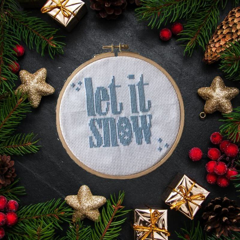 Borduurbox November | Let It Snow!
