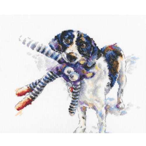 Borduurpakket Kruissteek | Hond (I Love You Anyway - RTO)