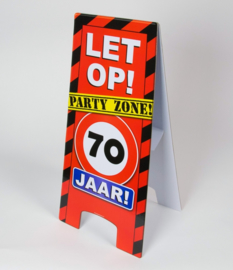 70 jaar warning sign