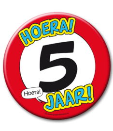 5 jaar Button xl