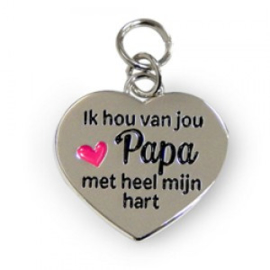 Ik hou van jou papa met heel mijn hart bedeltje