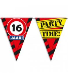 16 jaar partyvlaggen