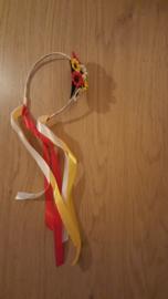 Haardiadeem bloemetjes rood/wit/geel