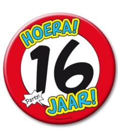16 jaar Button XL