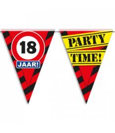 18 jaar partyvlaggen