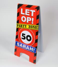50 jaar sarah warning sign