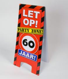60 jaar warning sign