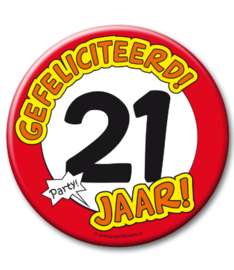 21 jaar Button XL