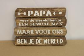 papa voor ons ben je de wereld