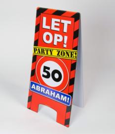 50 jaar abraham warning sign