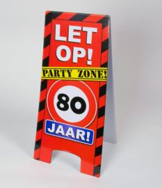 80 jaar warning sign