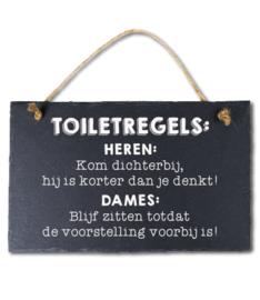 Toiletregels Leisteen