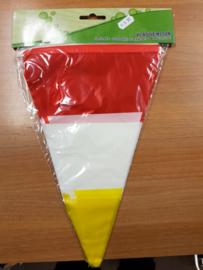 Vlaggenlijn rood/wit/geel 10m