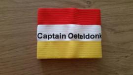 aanvoerdersband rood wit geel