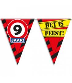 9 jaar partyvlaggen