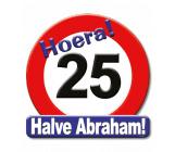 25 jaar halve abraham huldeschild