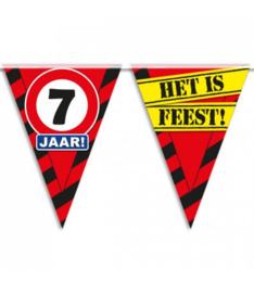 7 jaar partyvlaggen
