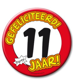 11 jaar Button XL