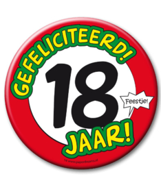 18 jaar Button XL