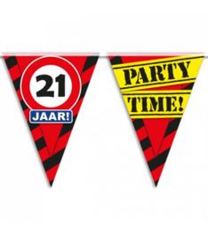21 Jaar partyvlaggen