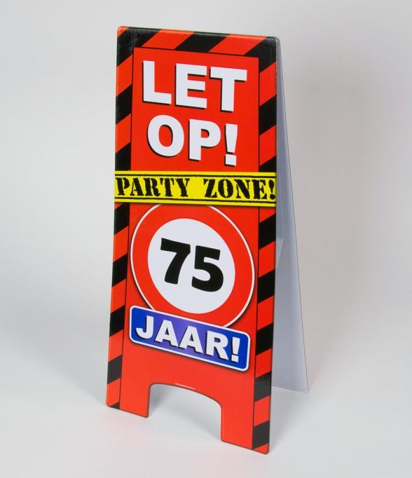 75 jaar warning sign