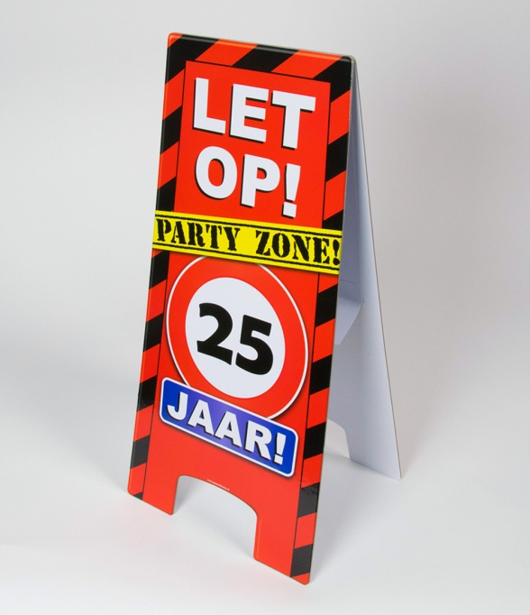 25 jaar warning sign